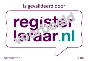registerleraar voorbeeld
